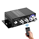 Wireless Bluetooth Stereo Mini Amplifier - 100W Dual Channel Sound Power Audio Receiver USB, AUX for Home Speakers with...