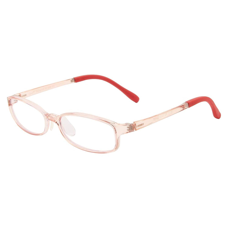 Cyxus Blue Light Blocking [Lightweight TR90] Glasses for Anti Eye Strain Headache Computer Use Eyewear, Men/Women (Pink)