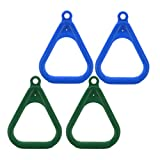 Amuzocity 4 Piezas de Juegos para Niños, Columpios de Plástico para Gimnasio, Accesorios de Bricolaje (Verde Azul)