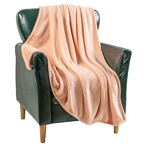 Flannel Blanket Fleece Throw King Size Blush Pink All Season Lightweight Plush Cozy Super Soft Luxury Couch Sofa Bed Blanket (Blush Pink, King 108x90)