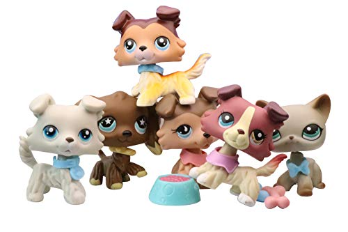 NA USA LPS Shorthair Cat 391 Grey LPS Collie 1262 893 363 58 Raised Paw Red Tan LPS Cocker Spaniel 960 Chocolate Dog Figure Puppy with Accessories Lot Kids Collection Gift