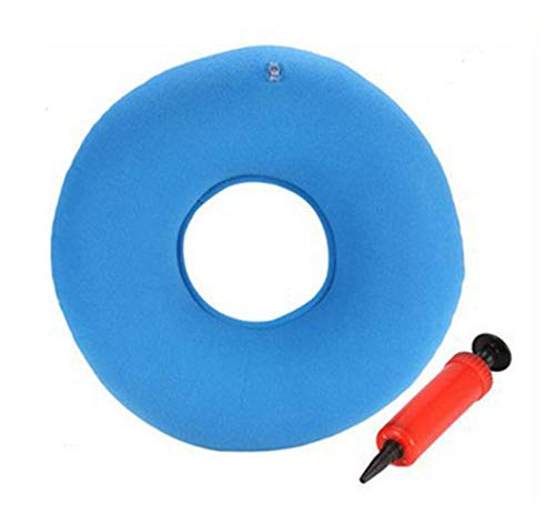 BIHIKI Medic Inflatable Air Seat Cushion with Pump,Donut Cushion for Back Tailbone Support,Pain Relieve, Wheelchair/Office/Car Sitting,Bedsore Prevention Product,15