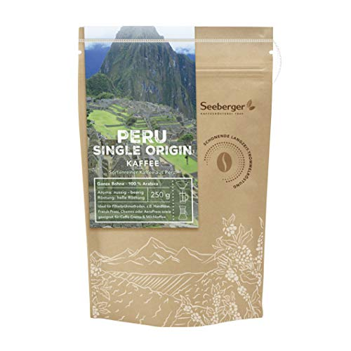 Seeberger Peru Single Origin Kaffee ganze Bohne 250 g