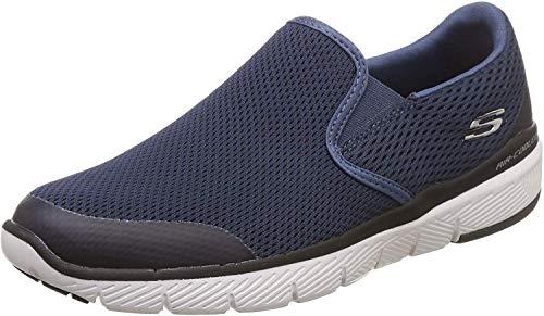 Skechers Flex Advantage 3.0-Morwick, Zapatillas sin Cordones Hombre, Azul (NVBK Black Mesh/Trim), 43 EU