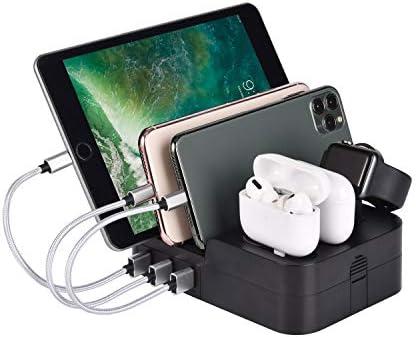 KeyEntre 6 Port USB Charging Station Multi Device USB Charging Dock Station HUB Desktop Charger product image