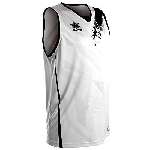 Luanvi 07236_0004 Camiseta de Tirantes Deportiva de Baloncesto, Unisex Adulto, Blanco, XXL