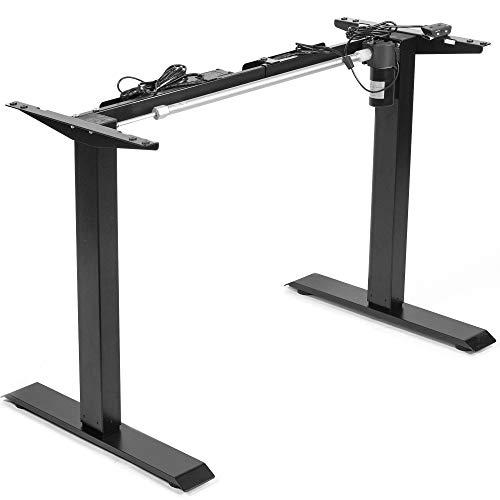 VIVO Black Electric Stand Up Desk Frame Workstation, Single Motor Ergonomic Standing Height...
