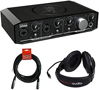 Mackie Onyx Series Producer 2-2 Audio Interface with Stereo Headphones & XLR- XLR Cable