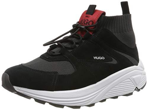 HUGO Horizon_Runn_Knit, Zapatillas para Mujer, Negro (Black 003), 38 EU