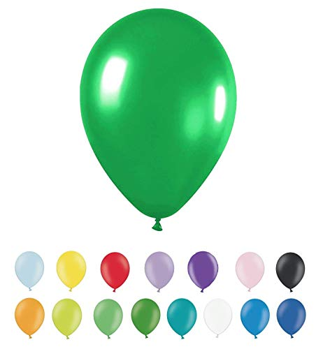 INERRA Globos Grandes metálicos de 12 Pulgadas – Pack de 25 (Opciones de Color) 30 cm látex Apto para Helio o Aire Fiesta de cumpleaños y Boda