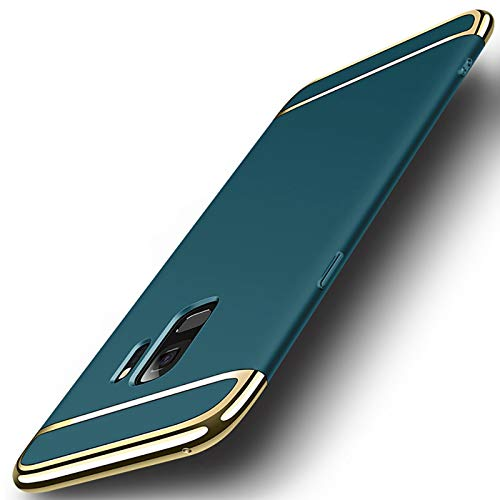 Galaxy S9 Case, NAISU Galaxy S9 Back Cover, Ultra Slim & Rugged Fit Shock Drop Proof Impact Resist Protective Case, 3 in 1 Hard Case for Samsung Galaxy S9 - Dark Green