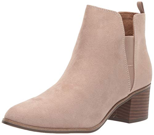 Dr. Scholl's Shoes womens Teammate Ankle Boot, Putty Microfiber, 7.5 US