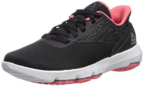 Reebok Women's Cloudride DMX 4.0 Walking Shoe, Black/Cold Grey/Bright Rose/White, 7.5 M US
