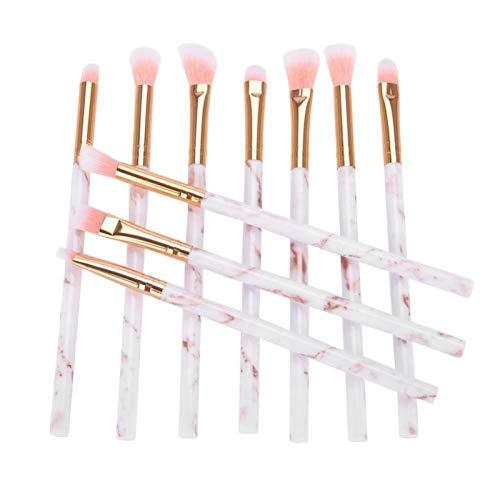 Herramienta de maquillaje 10 piezas Accesorios de maquillaje para mujeres para maquillaje para uso doméstico para belleza(white)