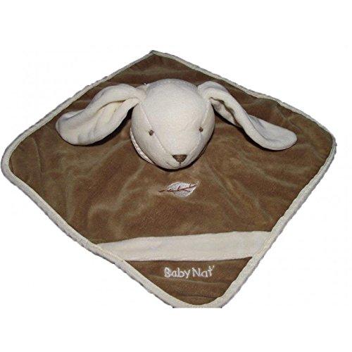 Babynat–Doudou Babynat conejo plana marrón naturaleza hoja–4130