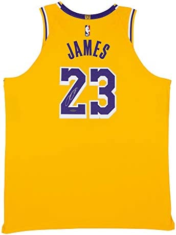 LeBron James Autographed Los Angeles Lakers Gold Authentic Nike ...