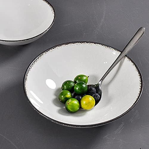 Branded Ranking TOP15 goods Anlerda White Salad Bowl Dishware Dinnerw Microwave Kitchen Safe