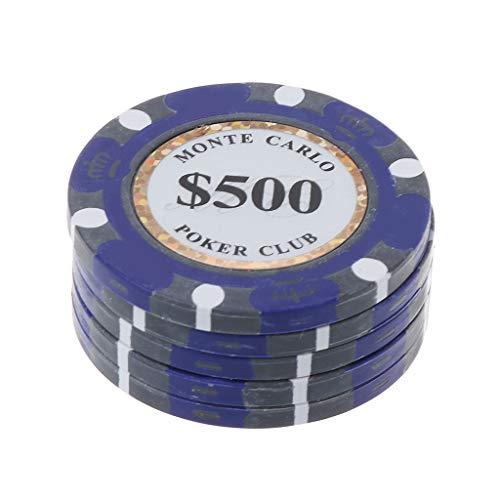 S-TROUBLE 5pcs Fichas de póquer Monedas de Casino de Arcilla 14g Protector de Tarjeta de bacará Texas Hold