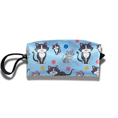 Bbhappiness Pouch Handbag Cosmetics Bag Case Purse Travel & Home Portable Make-up Receive Bag Different Cat