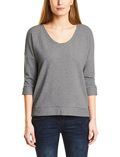 Cecil Damen 311871 Sweatshirt, Mineral Grey Melange, X-Large