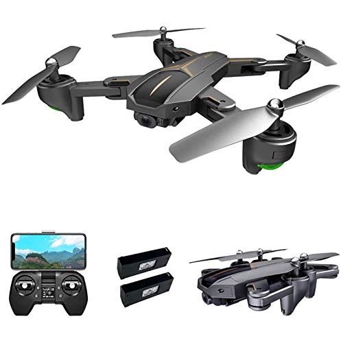 LDDZB GPS Drone for Adults, 5G WiFi FPV Drone with 4K Camera, Optical Flow Positioning RC Quadcopter with Headless Mode, Altitude Hold, Follow Me, Auto Return,1 Battery (Color : 1 Battery)