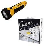 Toucan City LED Flashlight and Giani White Diamond Countertop Paint Kit FG-GI WHT DI
