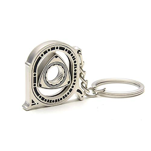 Large Rotary Engine Mazda RX7 RX8 Cutout Metal Keychain