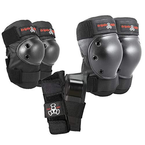 Triple Eight Saver Series Pad Set with Kneesavers, Elbowsavers and Wristsavers, Large, Black