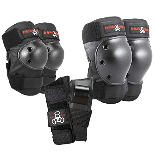 Triple Eight Saver Series Pad Set with Kneesavers, Elbowsavers and Wristsavers, Medium, Black (604352 60014)