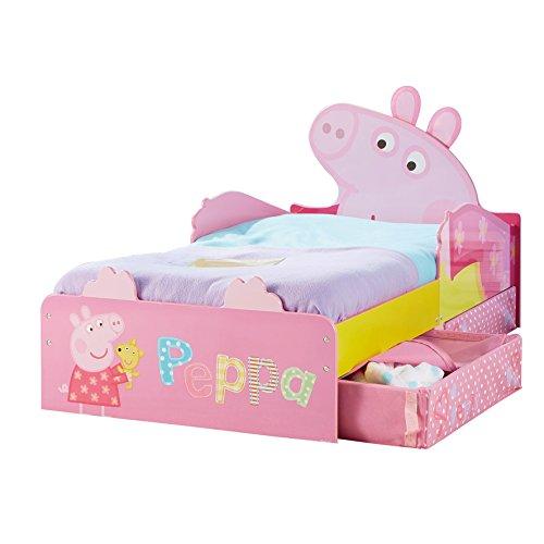 Peppa Pig - Lit pour enfants avec espace de rangement sous le lit