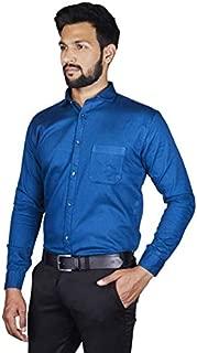 ARCADIAN THREADS Men's Cotton Formal Shirt Plain Solid