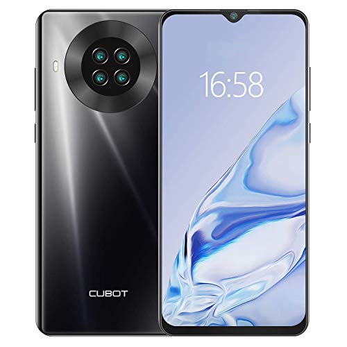 CUBOT Note 20 - Smartphone de 6.5' HD+, 3GB y 64GB, Cámara Cuádruple de 20 MP, Batería de 4200mAh, Android 10, Procesador Helio A20, Color Negro