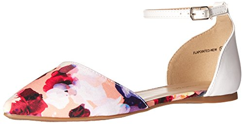 DREAM PAIRS Damen Flapointed-New Pumps, Floral White, 6 M US