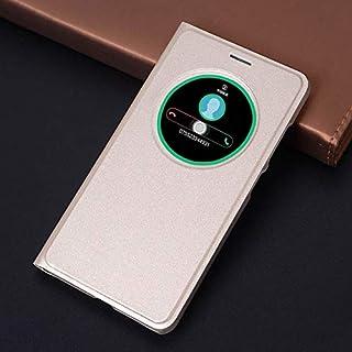 Flip Cases - Flip Cover Smart View Leather Phone Case For Zenfone 3 ZE520KL ZE552KL ZE 520KL 552KL 520 552 KL (Gold zenfon...