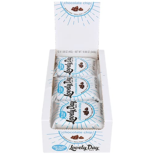 Lovely Day Bars Chocolate Chip, Vegan, Non-GMO, Gluten Free, Nut Free, Dairy Free, 1.58oz, 12 count