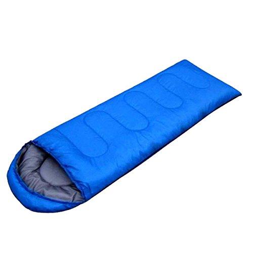 Xin.S Enveloppe Sacs De Couchage Avec Des Sacs Compressés Confortable Et Léger Portable équipement De Camping Trekking En Plein Air Voyage Et Survie (bleu Et Vert),Blue-(180+30)*75cm