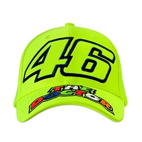 Valentino Rossi Unisex– Erwachsene VR46 The Doctor Cap Baseballkappe, gelb, Einheitsgröße