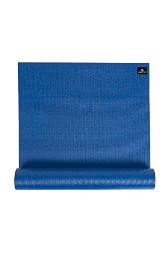 Yoga Studio Esterilla de yoga unisex, 6 mm/azul, adhesiva, 183 cm x 61 cm, 6 mm a prueba de desgarros con base antideslizante, color azul, regular