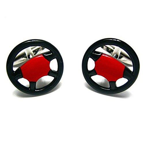 Procuffs Wheel Race Gamepad Lenkrad Auto Manschettenknöpfe + Box & Reiniger