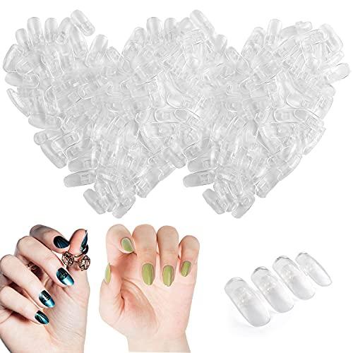 Kalolary 200pcs Einstellbare lebensgroße Nagelkunst, Training künstliche Hand Nail Art Training und Lernen, Nagelübungswerkzeug für Handprothesen für Anfänger (Enthält keine künstlichen Hände)