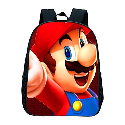 FENGHE Super Mario School Bag Super Mario Anime Backpack Children Kindergarten Backpack Kids Book Bag Girls Boys School Bag Mario Backpack Girls School Bags