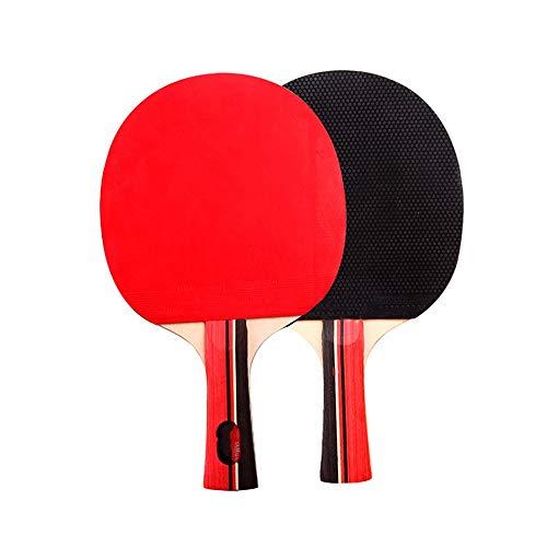 ChengBeautiful Juego De Paleta De Pong Conjuntos de Dos de los Principiantes Mesa de Ping Pong Raquetas de Estudiantes de Entrenamiento de Tenis de Mesa Raquetas Adultos Y Niños