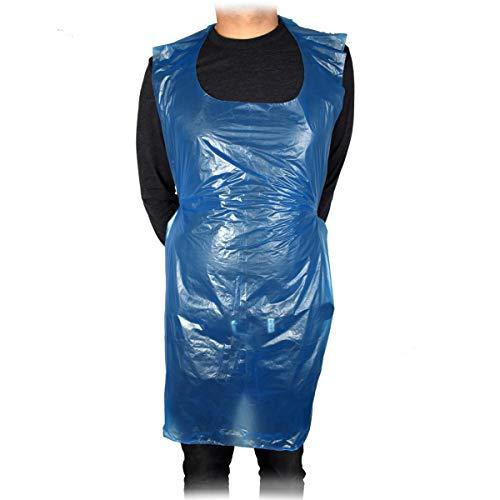 Triplast - Grembiuli usa e getta in plastica, per adulti, confezione da 100 pezzi, in PVC, colore: Blu
