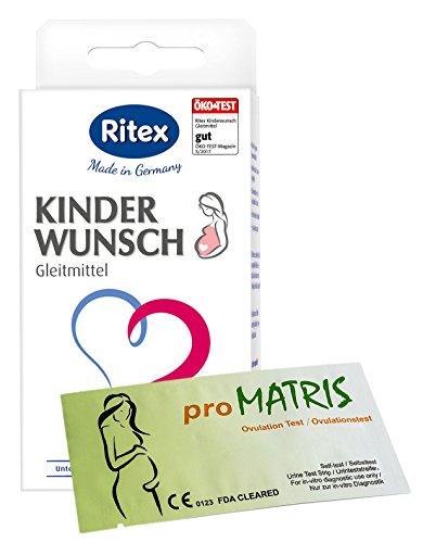 Ritex Kinderwunsch Gleitmittel Vorteilspack + 20 proMatris Ovulationstest Streifen 10 miu/ml