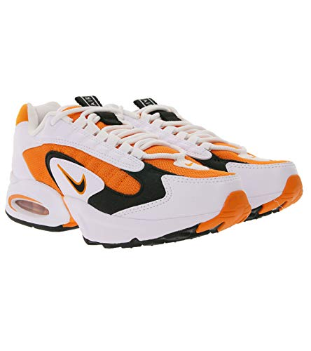 Nike Air Max Triax - Scarpe da ginnastica da donna, modello 90s, basse, colore: bianco/arancione/nero, Bianco (bianco), 38 EU