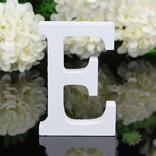 X-DAAO 26 Grandes Lettres en Bois de l'alphabet à Suspendre au Mur Décoration de la Maison Cadeau E