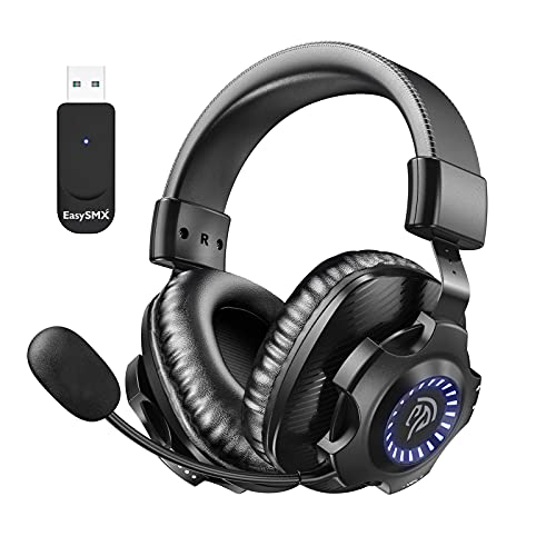 EasySMX 2.4G 7.1 Surround Deep Bass Wireless-Gaming-Headset for PS5, PS4, PC