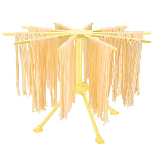 Hin Plus Pasta Drying Rack Collapsible (Yellow)