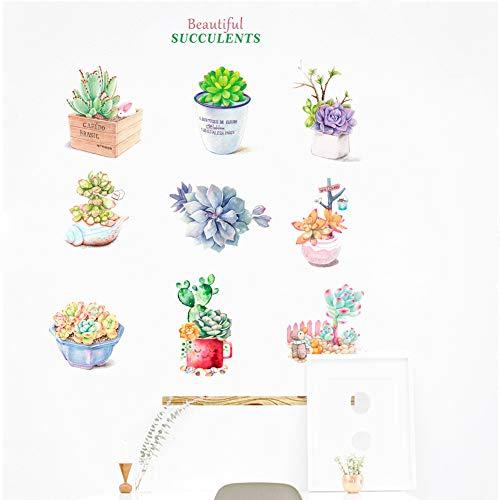 DALAO muurstickers voor kinderen, creatief, kleine plant, vers in de pot, wandsticker, slaapkamer, woonkamer, decoratie