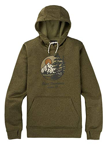 Burton Damen Oak Hoodie, Martini Olive Heather, L